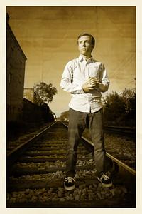 Mitchel Portrait Old School Train Tracks