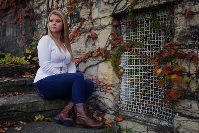 Ali Sitting on Block Stairs w Ivy