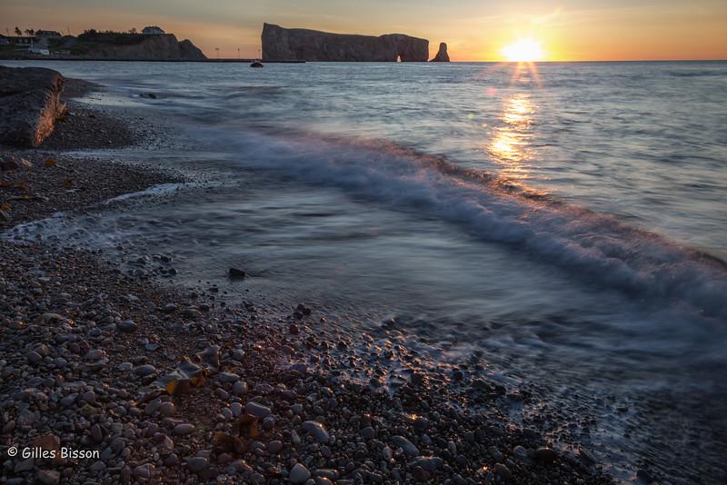 Perce sunrise, Gaspesie, Gulf of St-Lawrence, September 5, 2016, Canon 6D, 24mm, .8 sec, F22,  ISO 50