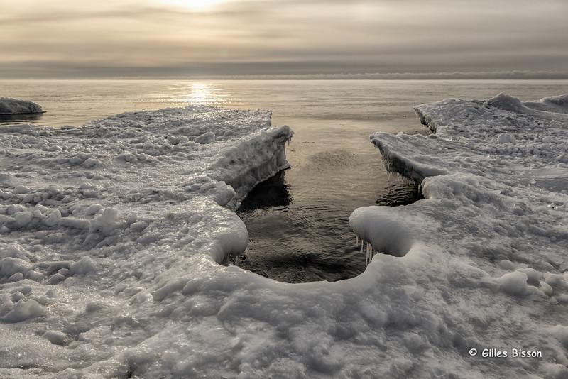 Ice formation, Presqu'ile Provincial Park, January 26,2015, Canon 6D, 24-105mm,1/125,F10,ISO200