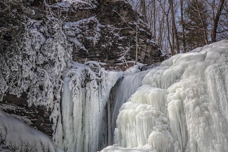 Jackson Falls, Prince Edward County, March 3, 2019, Canon EOS R, 24-105mm, 1/4 sec, F14, ISO 125