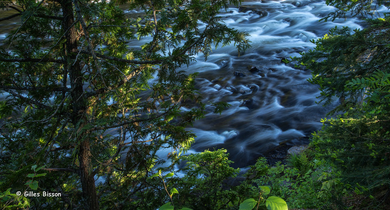 Tea Lake Dam rapids,Algonquin Park, June 03 2015, Canon 6D, 24-105mm, 1sec, F22, ISO 50.