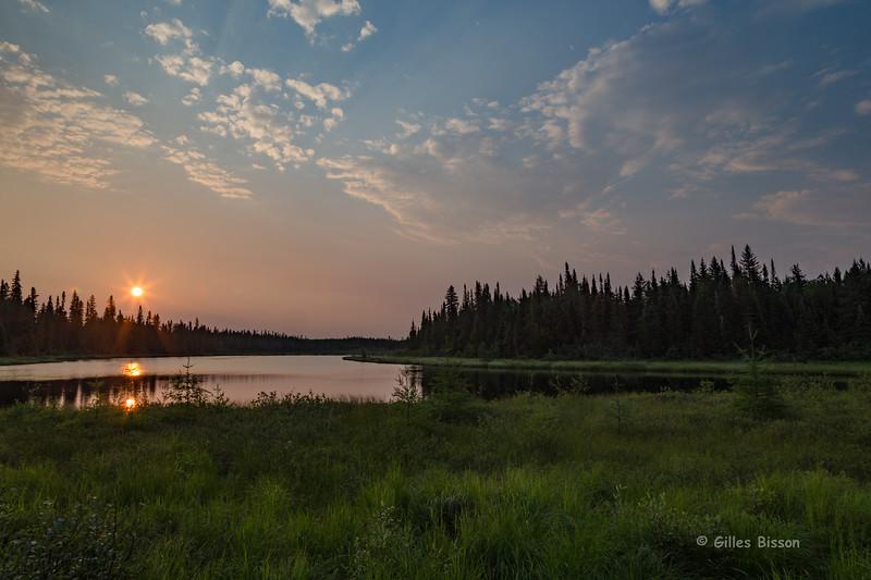 Balsam Lake sunrise, HDR, July 11 2015, Canon 6D, 1/20, f18, ISO 50