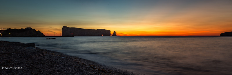 Perce sunrise Gaspesie, Gulf of St-Lawrence, September 5, 2016, Canon 6D, 24mm, 10 sec, F16,  ISO 50