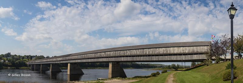 Longest Covered Bridge in the world, Hartland Bridge, Hartland, New Brunswick, Sept 07 2015, Canon 6D, 24-105mm, 1/125 sec, F 11.0, ISO 200, Panorama with 11 shots