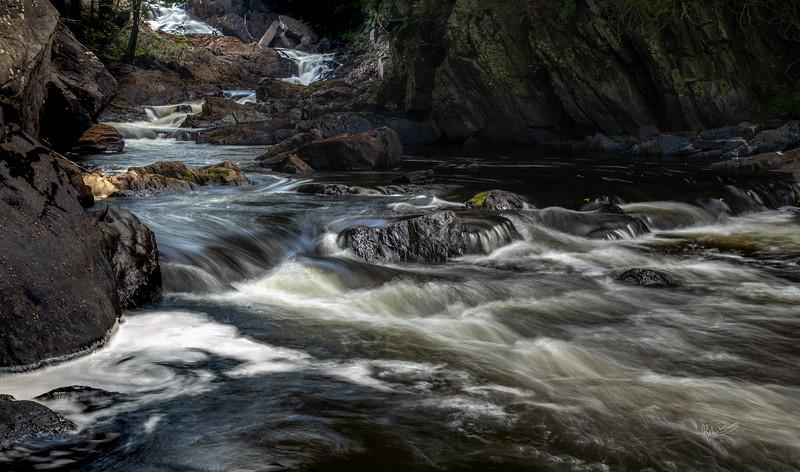 Cascading water, HIgh Falls, Skootamatta River, September 04, 2018, Canon 6D, .8 sec, F16, ISO 50