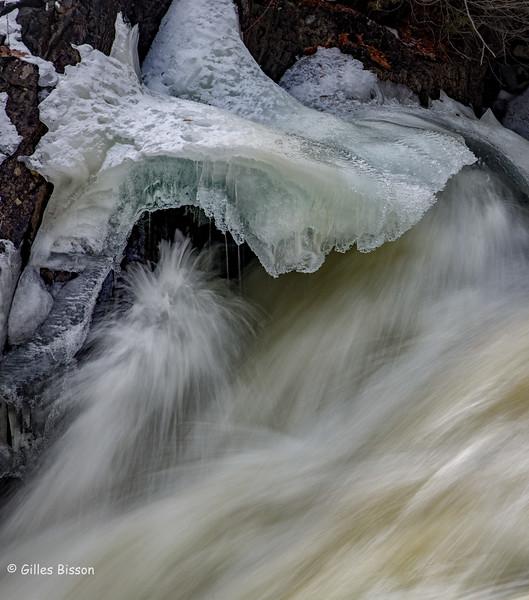 Cordova Lake Dam, Crowe Valley Conservation Area, February 06 2016, Canon 6D, 1/6 sec, F14, ISO 50