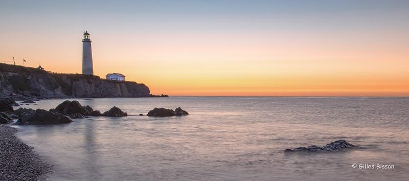 Sunrise at Cap-des-Rosiers Lighthouse, Cap-des-Rosiers,Gaspesie, Quebec, September 04, 2016, Canon 6D, 35mm,2 sec, F16,  ISO50