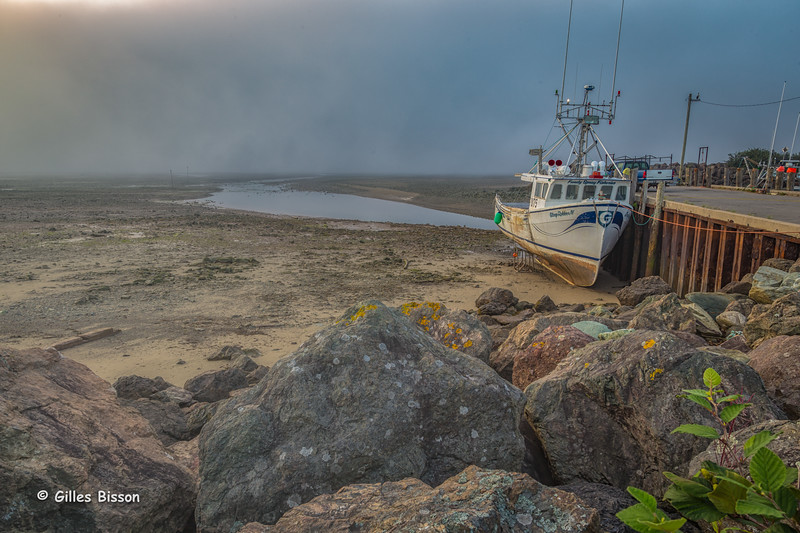 Low Tide at Alma Harbour, Bay of Fundy, New Brunswick, August 31 2015, Canon 6D, 24-105mm,.1/6sec, F 13, ISO 50