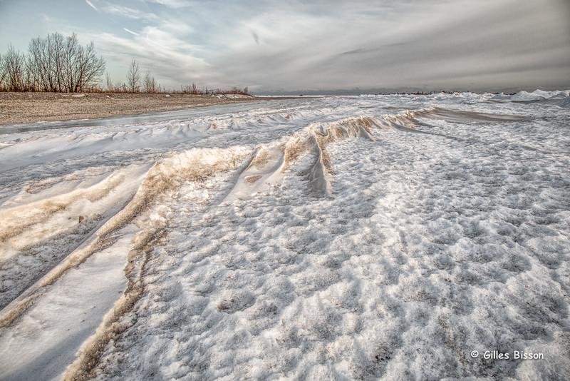 Ice formation, Presqu'ile Provincial Park, January 26,2015, Canon 6D, 24-105mm,1/100,F10,ISO400