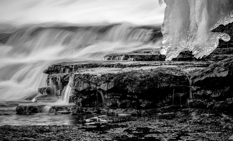 Ice formation, Healy Falls, January 21, 2017, Canon 6D, 105mm, .4sec, F22, ISO 50
