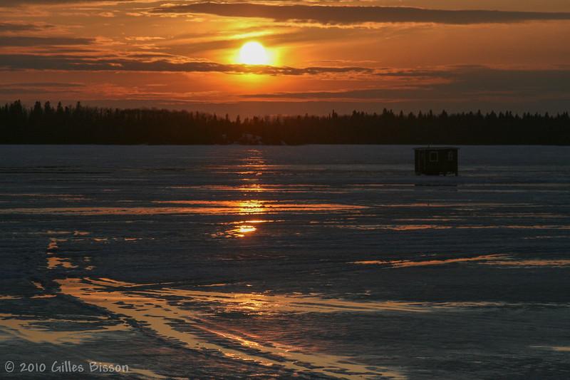 Sunset at Remi Lake. March 16 2010