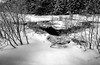 Black & White Snowy landscape, Opeongo Creek, Algonquin Park, March 2, 2017, Canon 6D, 20mm, 1/8 sec, F16, ISO 50