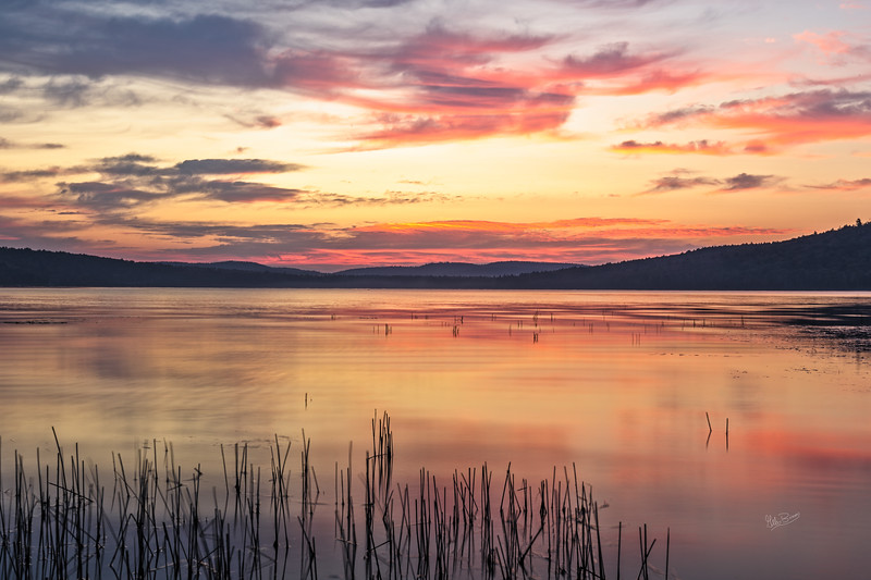 Sunrise over Lake of two rivers, Algonquin Park, September 27,2017, Canon 6D, 45mm, 2.0 sec, F18, ISO 50