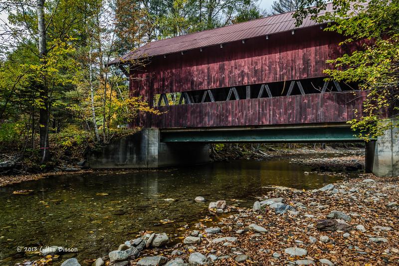 Covered Bridge, Route 108 Vermont, Oct 2 2013, #8789, Canon 6D-1/8sec-F11-ISO50-LR5