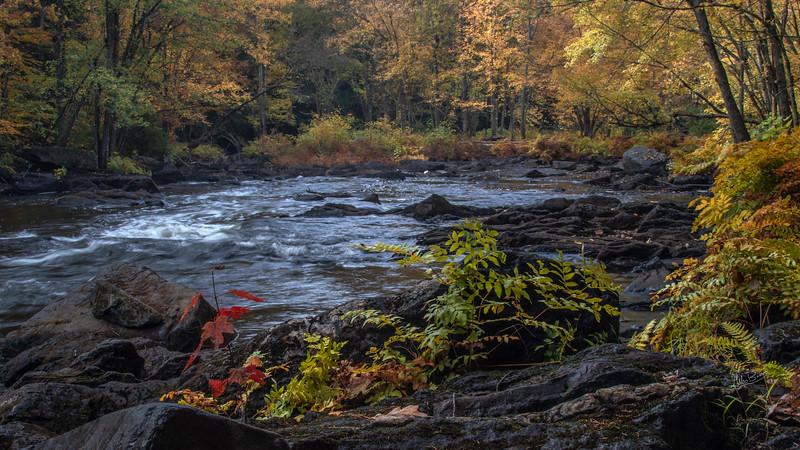 Landscape HIgh Falls, Skootamatta River, October 09, 2018, Canon 7D, Mark II, 1/5sec, F14, ISO 100