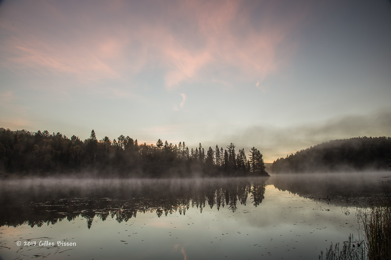 Sunrise, Costelo lake, Algonquin Park, Sept 26 2013, #7832, Canon 6d- .8sec-F13-ISO50-LR5