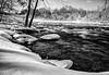 Trent River at Healey Falls, February 16, 2019, Canon EOS R, 24-105mm, .4 sec sec, F14, ISO 50