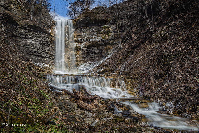 Cape Vesey Waterfall, Prince Edward County, March 26, 2016, Canon 6D, .5sec, F22, ISO 50