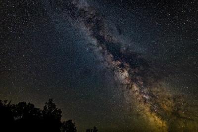 Night Sky, Irvine Lake Air Strip, August 21, 2017, Canon 6D, 15 sec, F1.4, ISO 1600