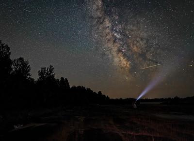 Night Sky, Irvine Lake Air Strip, August 21, 2017, Canon 6D, 25 sec, F1.4, ISO 2500