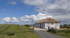 Isle of Skye farm house with thatched roof, Scotland, July 05 2014
