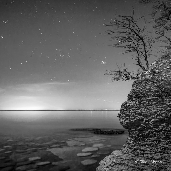 Sandbanks B&W night shot