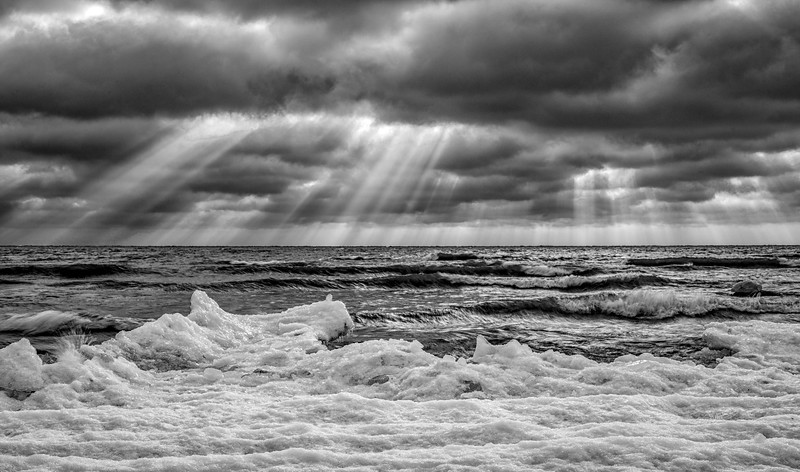Light rays over Presqu'ile