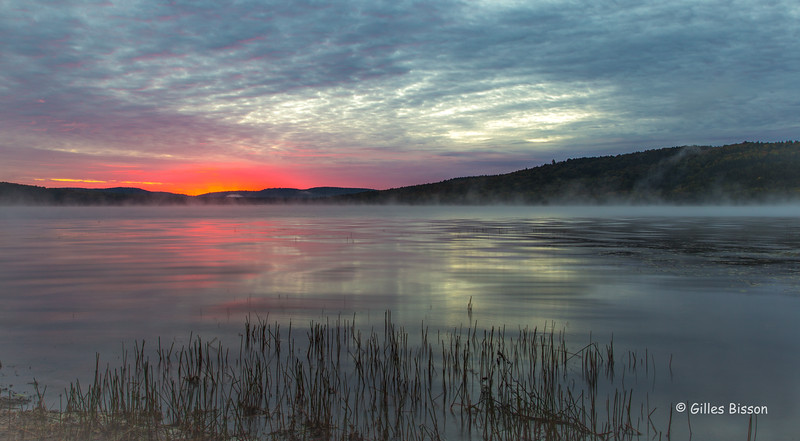 Lake of Two Rivers sunrise, Algonquin Park, Sept 28, 2016, Canon 6D, .8 sec sec, F16, ISO 50