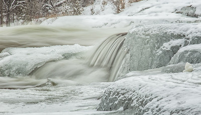 Healey Falls, Campbellford, February 10, 2018, 2018, Canon 6d, 105mm, .4sec, f16, ISO 50