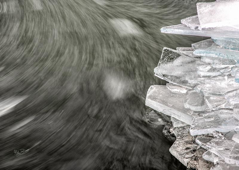 Ice, Presqu'ile Provincial Park, January 15, 2019, Canon EOS R, 24-105mm, .3 sec, F11, ISO 50