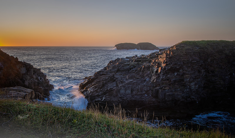 Sunrise in Elliston, Newfoundland, August 25, 2019, Canon EOS R, 1/25 F13, ISO 50