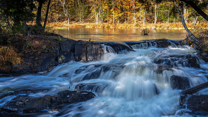 Cordova Falls, Fall landscape, October 11, 2020, Sony AR74, 1/4 sec, F16, ISO 80