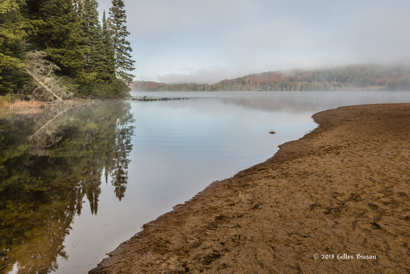 Lake of Two Rivers,East beach, Algonquin Park, Sept 27 2013, #8356, Canon 6D-1/6sec-F16-ISO50-LR5