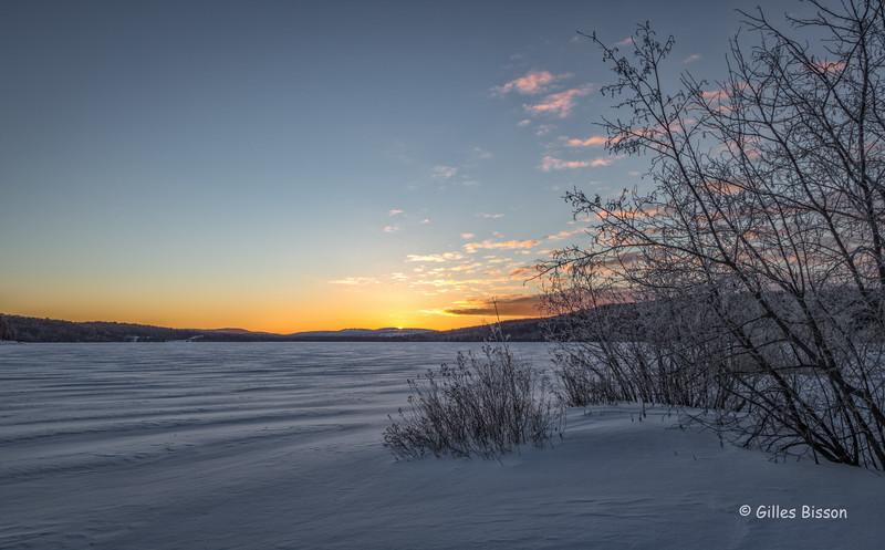 Winter sunrise, Algonquin Park, March 4 2016, Canon 6D, 24-105mm, 1/15sec, F18, ISO 50