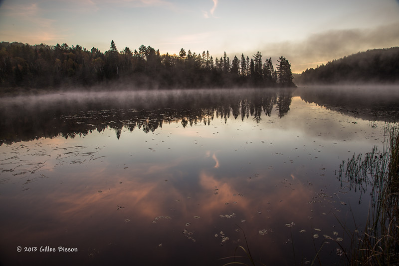 Sunrise, Costelo lake, Algonquin Park, Sept 26 2013, #7833, Canon 6d- .8sec-F13-ISO50-LR5