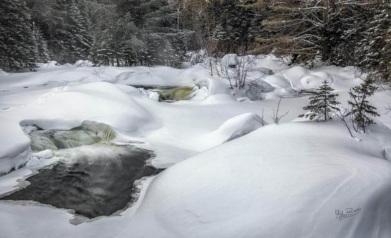 Madawaska River, Algonquin park, February 28,2019, Canon EOS R, 24-105mm, 1.3 sec, F11,ISO 50