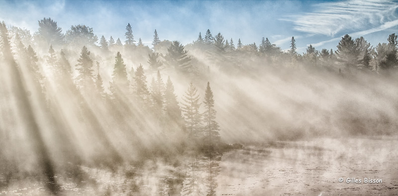Early morning landscape,Algonquin Park, Sept 28 2014, Canon  T3i,1/125,F13,ISO100