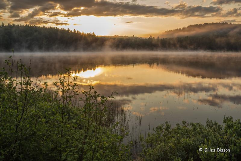Opeongo Lake sunrise, Algonquin Park, June 02, 2015, Canon 6D, 24-105mm, .5sec, F22, ISO 50