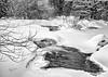 Black & White winter scene, Madawaska River, Algonquin park, February 28,2019, Canon EOS R, 24-105mm, .5sec, F11, ISO 50