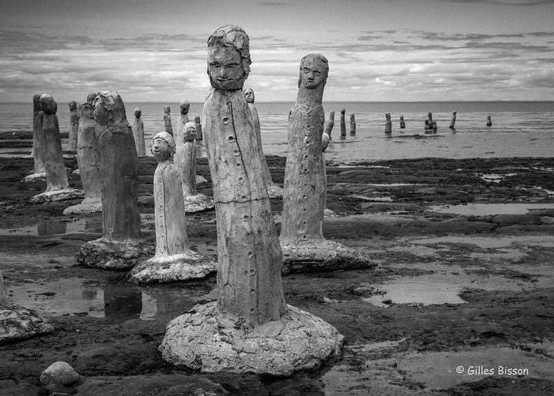 Artwork by Marcel Gagnon at his riverside inn and gallery in Saint Flavie, Gaspe Peninsula, Quebec, September 02,,2016, Canon 6D, 47mm, 1/250, F14,,ISO 640