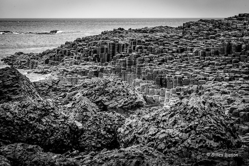 Giant's Causeway, Black & White, Northern Ireland, May 17, 2016, Canon 6D, 24-105mm,1/60, F10, ISO 250