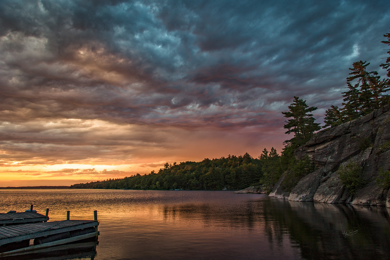 Sunset on French River