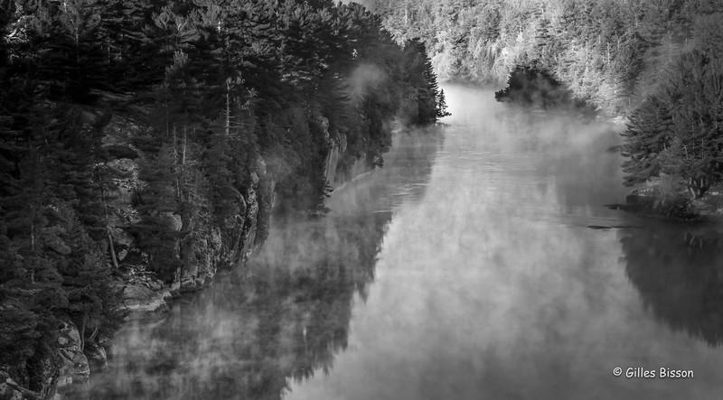 French River - Black & White