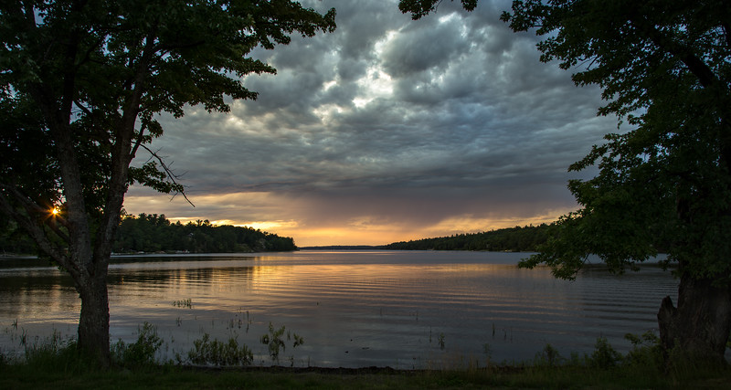 Sunset on French River, Northern Ontario, July 15, 2017, Canon 6D MarkII, 1/20 sec, F8, ISO 50