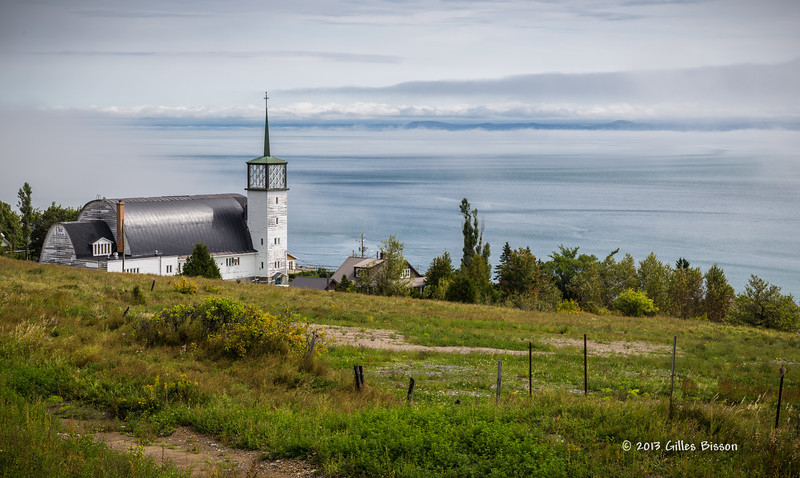 Church on route 138 towards Tadoussac,Quebec,  St-Lawrence River, Sept 03 2013, #6050, Canon 6D-24-105mm-1/200-F8.0-ISO50-LR5