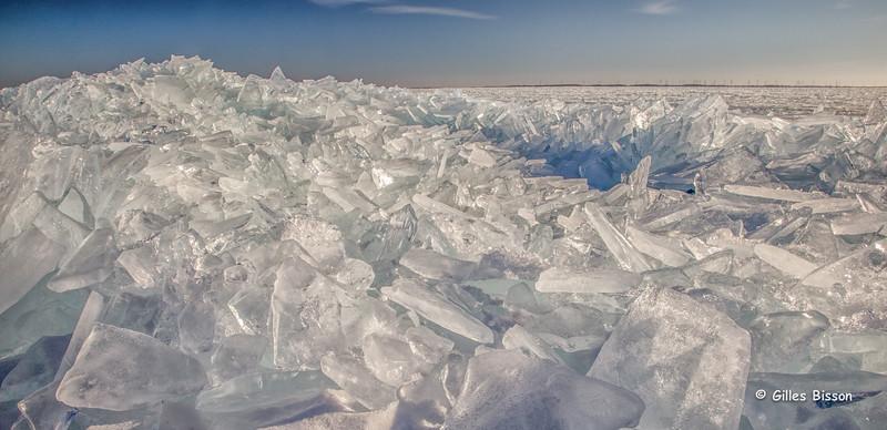 Shoreline ice on Amherst Island, January 21 2015, Canon 6D, 24-105mm,1/125,F20, ISO 500