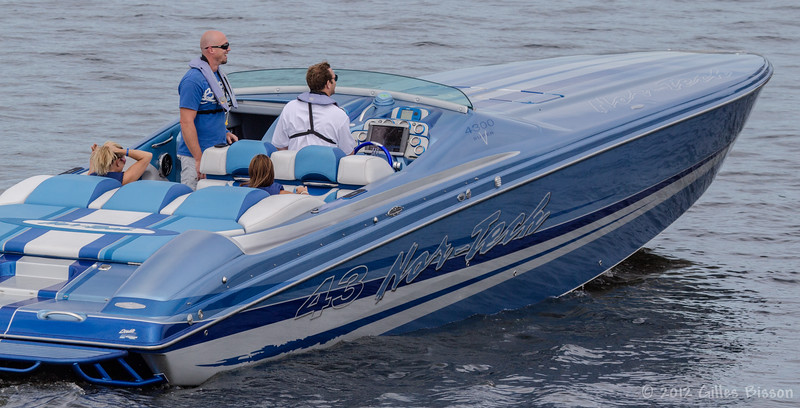 Cigar boats, July 28 2012, Belleville Harbour - Poker Run