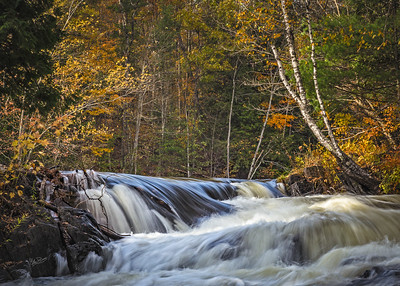 Fall colours at Cordova Falls