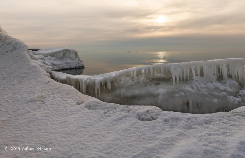 Ice Formation, Presqu'ile Provincial Park, #9907 Feb 1 2014, Canon 6D 1/250 F10 ISO400